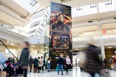 Lionsgate recently worked with Limited Space to utilise their unique media formats for the DVD release of the third installment of the Hunger Games film series, Mockingjay Part One. #HungerGames #Mockingjay #OOH #mall #advertising
