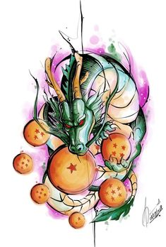 ideas for tattoo dragon ball aquarela Dragon Ball Gt, Dragon Art, Ps Wallpaper, Graffiti, Z Tattoo, Anime Tattoos, Anime Art, Sketches, Fan Art