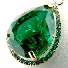 Largest Faceted Emeralds from North Carolina.