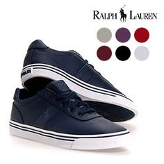 Polo Ralph Lauren Men's Hanford Canvas or Leather Sneaker