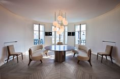 Contemporary Dining Room in Paris, FR by Isabelle Stanislas Architecture