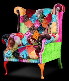 Patchwork wing chair from Ginny Avison Designs Ltd <3<3<3WOW<3<3<3 @