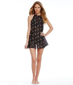 kate spade new york Playa Flamingo Cover-Up Dress