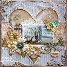 wedding scrapbook pages | wedding scrapbooking page