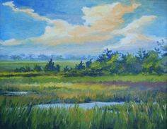 DeBordieu Spring Marsh by Betsy Jones McDonald....as beautiful as is the new development, I miss looking across the inlet from Pawleys and seeing nothing but the old fishing shacks, the piles of shells, and the wind-swept isolation that was of DeBordieu