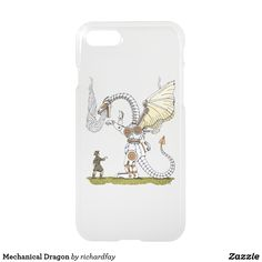 Mechanical Dragon iPhone 8/7 Case.  50% Off with code ZAZZLESAVING Ends at 6pm PT.  #Zazzle #phone_case #dragon #mechanical_dragon #robotic_dragon #steam_powered_dragon #steampunk_dragon