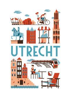Als kunstposter koop op: https://www.catch-online.nl/kunstenaars/jochem-coenen #Utrecht #poster #Holland