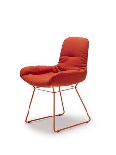 Chair Leya | Designed by Birgit Hoffmann & Christoph Kahleyss | FREIFRAU Sitzmöbelmanufaktur (www.freifrau.eu) | #orange