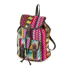 Colorful Yarn Dye Backpack   Claire's