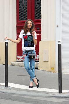 Belt bag + printed t-shirt