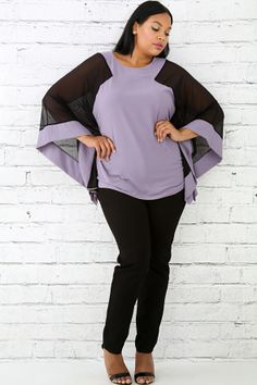 8d4d8b5ebff Sheer Embroidered Poncho Top Plus Size Girls