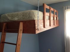 Space-optimising suspended loft bed_7