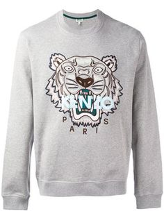 tiger printed sweatshirt