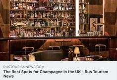 The Best Spots for Champagne in the UK - Rus Tourism News About Uk, Liquor Cabinet, Tourism, Champagne, Good Things, News, Home Decor, Turismo, Decoration Home