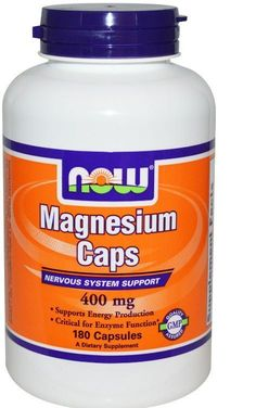 Magnesium Caps 400 mg 180 Capsules Nervous System Energy Support Health  #NOWFoods