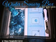 winter sensory box light table