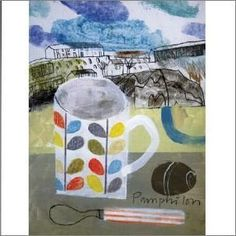 """Another of my favourite Elaine Pamphilon cards """"St Ives Mug and Spoon"""""""