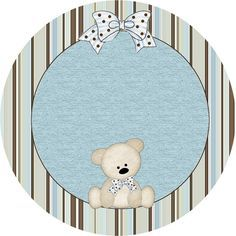 Teddy Bear Family, Toppers or Free Printable Candy Bar Labels. Baby Boy Scrapbook, Scrapbook Bebe, Clipart Baby, Baby Shower Parties, Baby Boy Shower, Instalation Art, Candy Bar Labels, Oh My Fiesta, Baby Shower Cupcake Toppers