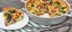 Makkelijk recept voor heerlijke quiche met champignons, broccoli en spekjes