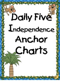 sharing our daily 5 Independence Anchor Charts- free printables First Grade Reading, First Grade Classroom, School Classroom, Classroom Ideas, Classroom Freebies, Classroom Resources, Future Classroom, Classroom Organization, Classroom Management