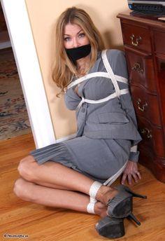 Secratary silk bondage