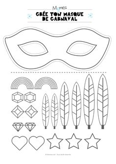 masque carnaval enfant carnaval Kit pour faire un masque de carnaval The Effective Pictures We Offer You About diy carnival outfit A quality picture can tell you many things. You can find t Diy Carnival, Carnival Food, Carnival Outfits, Carnival Costumes, Carnival Makeup, Theme Carnaval, Diy For Kids, Crafts For Kids, Clown Crafts