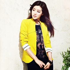 park han byul modeling a colorful #blazer and #dress ! #asian #accessories #sexy #sweet #dress #fashion #girly #gorgeous #hot #hair #jewelry #kpop #korea #lookbook #instapic #instagood #instamood #instadaily #ootd #outfit #photoshoot #lookbook #model #magazine #bestoftheday #chic #cool #cute