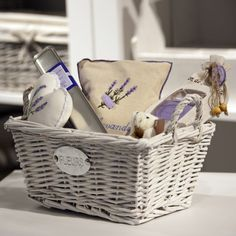 Provence scent Gift Set | €52,00  White wicker Provencal style basket with: one incense sticks box, one natural lavender scented bag, one white Teddy Bear, one lavander scented heart and one 3 scented soap set. All 100% natural products.