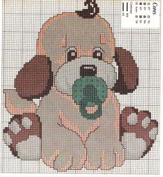 Gráfico Ponto Cruz - Cachorrinho