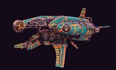 Star Sloop by Sam Olesen on ArtStation. Spaceship Design, Spaceship Concept, Concept Ships, Concept Art, Arte Sci Fi, Sci Fi Art, Warhammer 40k Figures, Sci Fi Ships, The Old Republic
