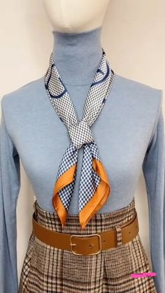 Ways To Tie Scarves, Ways To Wear A Scarf, How To Wear Scarves, Scarf Wearing Styles, Scarf Styles, Diy Clothes Life Hacks, Clothing Hacks, Diy Scarf, Scarf Knots