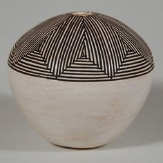 Acoma Pueblo Small Fine-line Seed Jar Southwest Indian Pottery ...