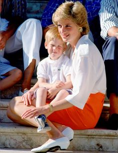 Princess Diana and Prince Harry in 1988.