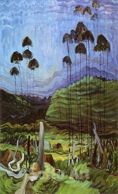 Emily Carr - Trees in the Sky: Looks like the palm trees that I detest. Better in this painting though.