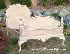 Chalk Painted Bed