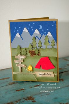 Camping Tent Jokes although Best Camping Tents To Buy on Camping World Houston both Camping Tents Hire Melbourne Bday Cards, Happy Birthday Cards, Birthday Greeting Cards, Cricut Cards, Stampin Up Cards, Camping Cards, Tarjetas Pop Up, Karten Diy, Masculine Birthday Cards