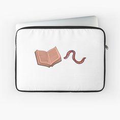 """Book Worm (non-pattern)"" Laptop Sleeve by wellsaidsir | Redbubble bibliophile, book, book lover, book worm, geek, nerd, library, literary, literature, read, reader, reading, school, smart, study, teacher, pattern, writer, novel, bookaddict, college, university, author"