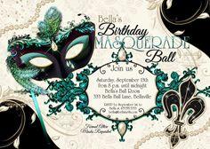 Masquerade Party Invitation Mardi Gras Party Party by BellaLuElla, $12.00