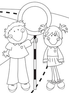 Use this colouring poster, which contains speed limit signs, as a fun activity for younger students.