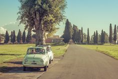 While in Rome we took two Fiat 500s out to explore the Roman countryside...