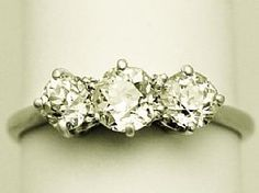 'Antique 1.42ct Diamond Trilogy Ring'