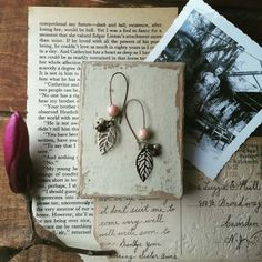Leaf earrings. Filling the shop with these as quickly as the real thing is filling bare branches this spring.