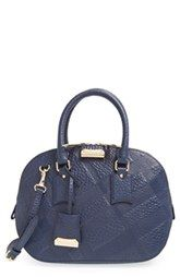 Burberry  Small Orchard  Check Embossed Leather Satchel Leather Satchel,  Leather Handbags, Burberry 2178789cbc