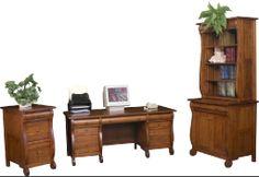 Furniture - Office on Pinterest | Solid wood desk, L desk and Amish
