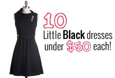 Get the perfect LBD - Little Black Dress for under $50!