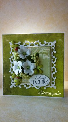 Zieleń... Cardmaking, Card Ideas, Projects To Try, Frame, Cards, Inspiration, Home Decor, Picture Frame, Biblical Inspiration