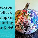 Jackson+Pollock+Pumpkin+Painting+Art+Project