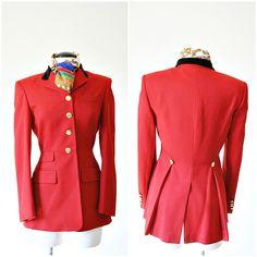 vintage RALPH LAUREN red EQUESTRIAN blazer