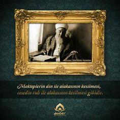 """""""Mekteplerin din ile alakasının kesilmesi,  cesedin ruh ile alakasının kesilmesi gibidir.""""  13 Kasım 1980 tarihinde yitirdiğimiz büyük âlim Mehmed Zâhid Kotku Hazretlerini rahmetle anıyoruz. #MehmedZahidKotku"""