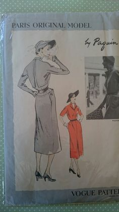 B32 RARE Vogue Paris Original Model 1128 by by StarletPatterns